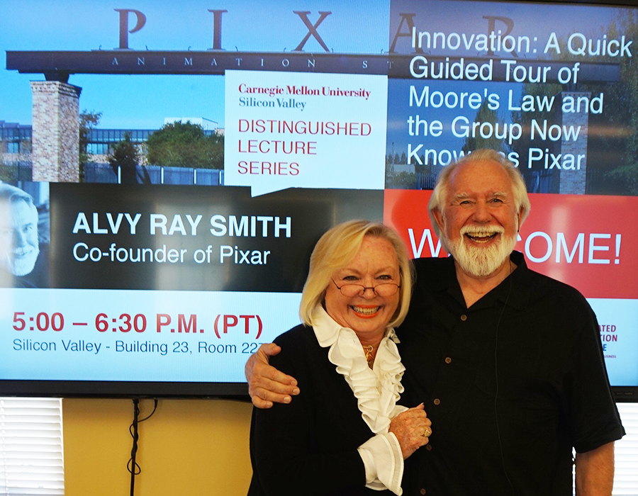 Alvy Ray Smith, Co-founder of Pixar visited CMU Silicon Valley